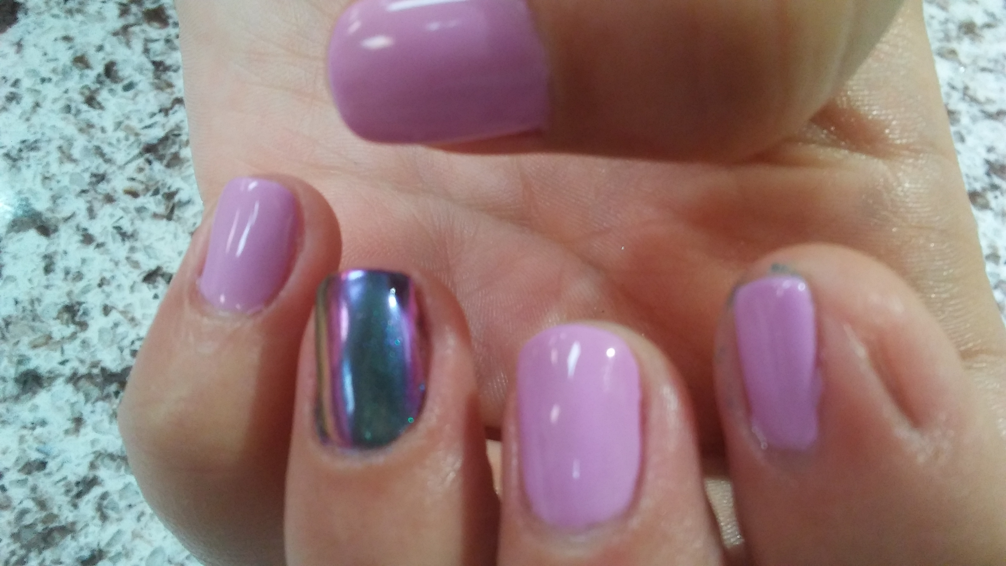 Wildflowers Nail Academy Unicorn Dandruff Over Black Acrylic Nails